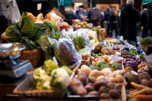 A vegetable stall at Borough Market in London, UK, Image: Jack Gavigan, 2009